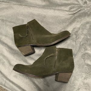 Aldo Green Leather Boots Size 10